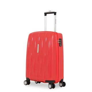 SwissGear 20-inch Orange Red Carry-on Hardside Spinner Suitcase