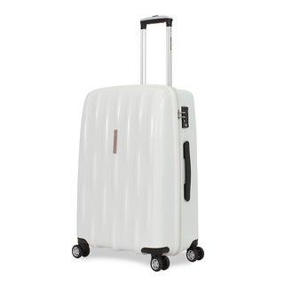 SwissGear White 24-inch Hardside Spinner Suitcase