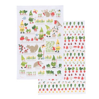 Gnome Sweet Gnome Kitchen Dishtowel by Now Designs (Set of 2)