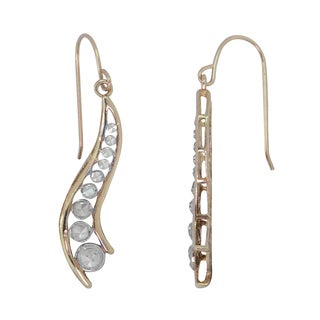 10k White Gold Drop Earrings