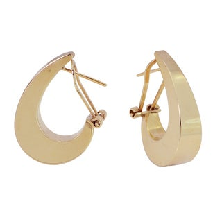 10k Gold Large Polished Hoop Earrings
