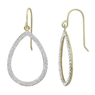 10k Gold and Ice Drop Earrings