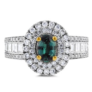 18k White or Yellow Gold Fine Brazilian Alexandrite and 1 1/3 ct TDW Diamond Ring by La Vita Vital