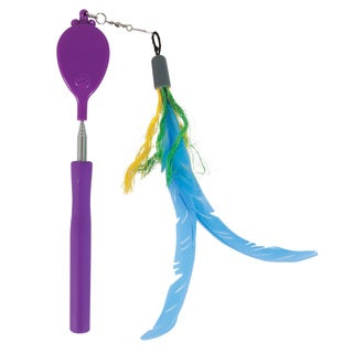 Jackson Galaxy Multicolored Plastic/Metal Air Wand With Cat Toy