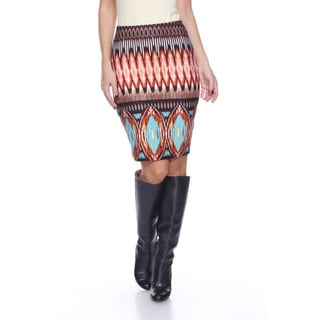 Women's Volcano Flame Knee-length Pencil Skirt