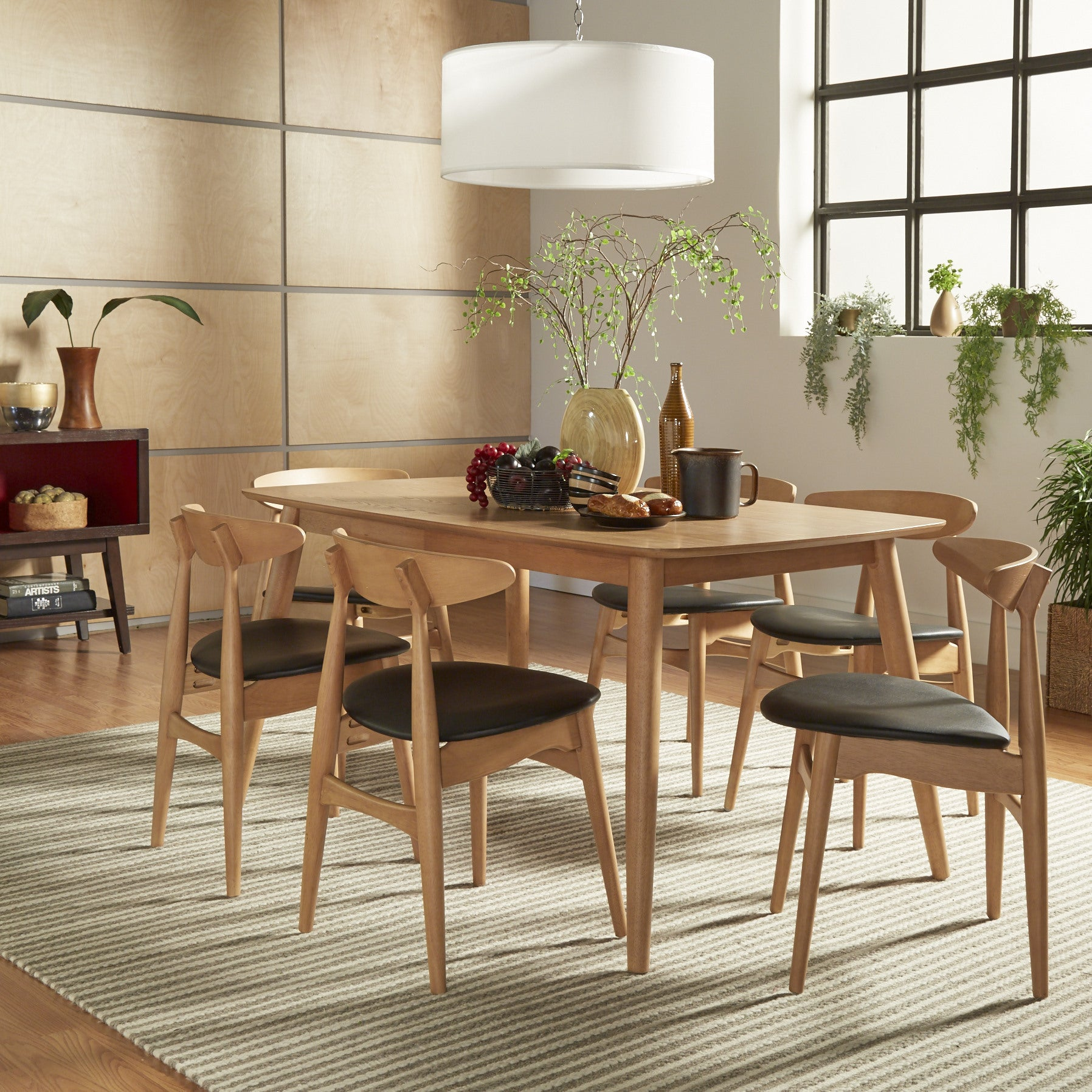 Norwegian Danish Modern Oak Tapered Dining Set iNSPIRE Q ...