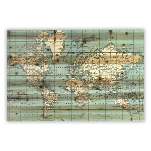 Wood Plank Wall Art world map' wood plank wall art - free shipping today - overstock