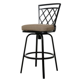 Agincourt Rust Brown Aluminum and Synthetic Fiber 30-inch Bar Stool