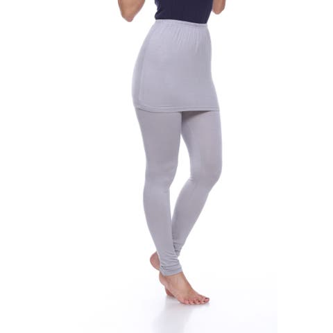 White Mark Women's Rayon and Spandex Skirted Leggings
