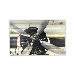 'Plane Closeup' Wood Wall Art