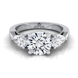 14k White Gold 2ct TDW Diamond 3-Stone Engagement Ring (H-I, VS1-VS2)