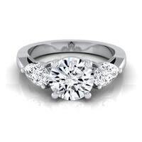 14k White Gold 2ct TDW Diamond 3-Stone Engagement Ring