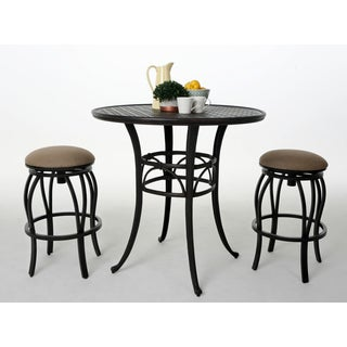 Andalusia Bronze-finished Aluminum 30-inch Bar Stool