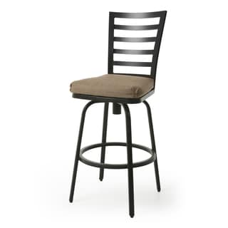 El Pinacate II Tan/Brown Aluminum and Synthetic Fiber 26-inch Counter Stool