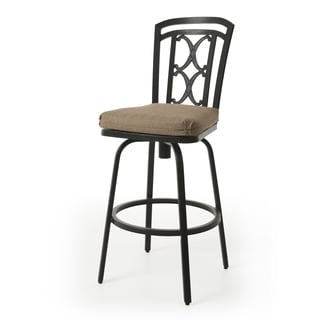 Jimin Bronze Finish Aluminum 30-inch Bar Stool