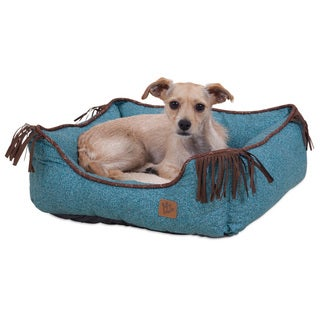 MuttNation Fueled by Miranda Lambert Lambswool Fringed Printed Lounger Dog Bed