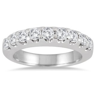 Marquee Jewels 10K White Gold 1ct TDW Diamond Wedding Band