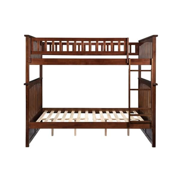 Columbia Bunk Bed Full Over Full In Walnut Overstock 13046638