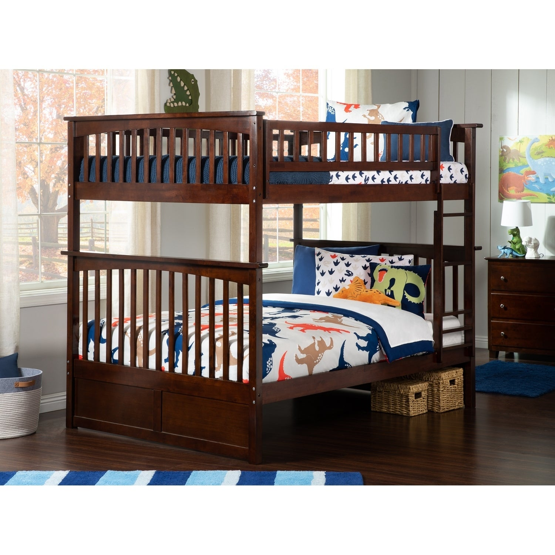 Atlantic Furniture Columbia Bunk Bed Full over Full in Wa...