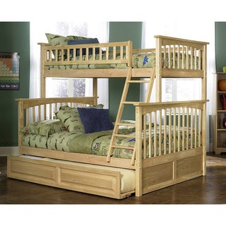 Columbia Bunk Bed Twin over Full with Trundle Bed in Natural