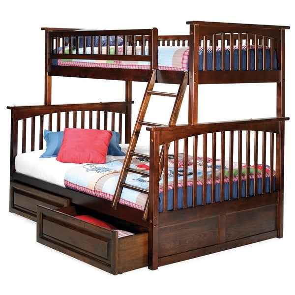 Shop Columbia Twin Over Full Bunk Bed With 2 Raised Panel Bed