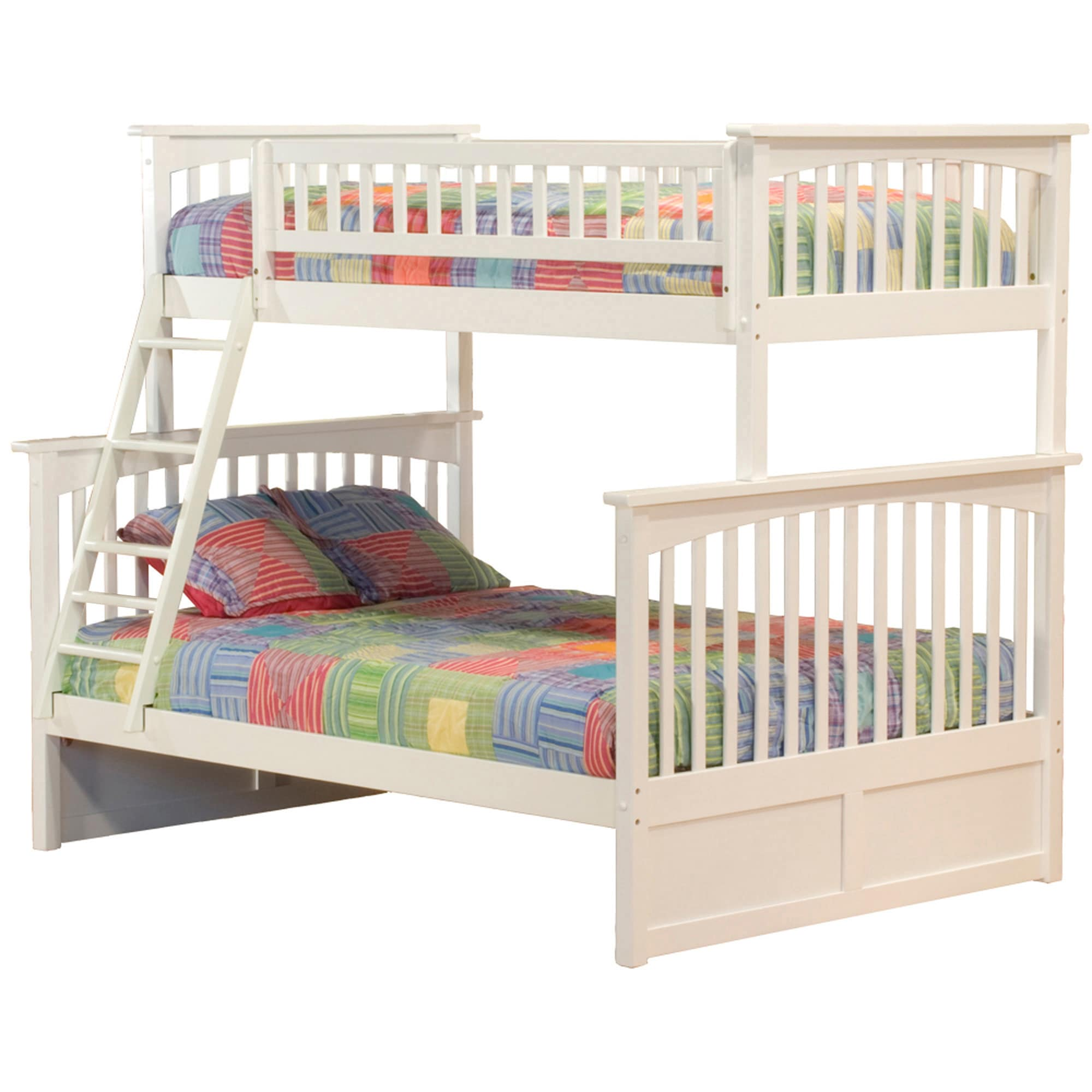 Atlantic Furniture Columbia Twin over Full Bunk Bed with ...