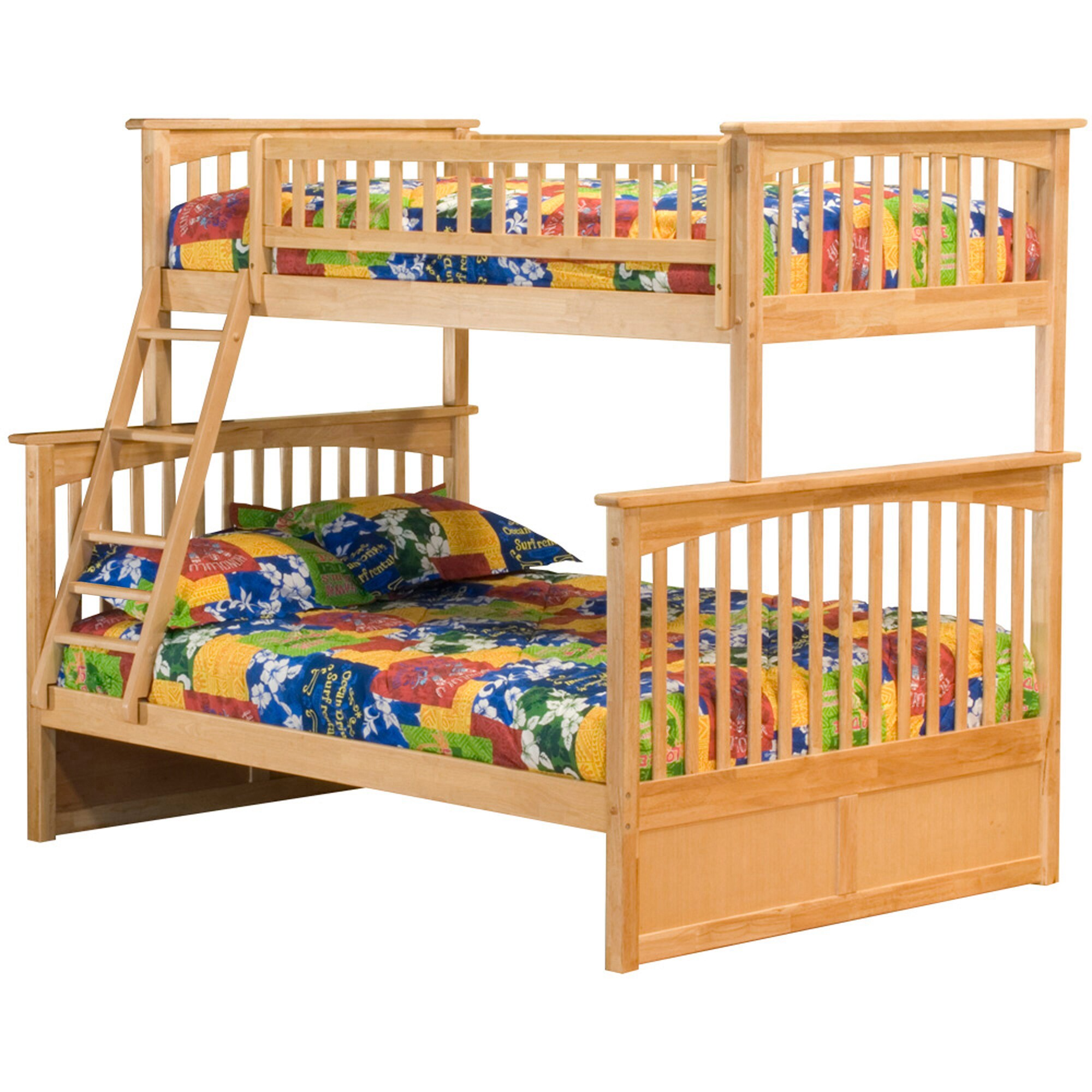 Atlantic Furniture Columbia Twin over Full Bunk Bed in Na...