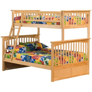 Columbia Twin over Full Bunk Bed in Natural