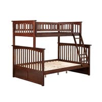 Columbia Twin over Full Bunk Bed in Walnut