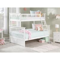 Columbia Twin over Full Bunk Bed in White