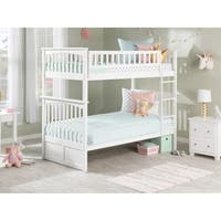 Columbia Twin over Twin Bunk Bed in White