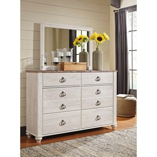 signature design by ashley willowton twotone dresser with mirrorhttps