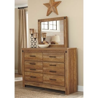 Signature Design by Ashley Ladimier Golden Brown Dresser with Mirror