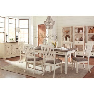Signature Design By Ashley Bolanburg Two Tone Dining Room Table With Two  Chairs Set