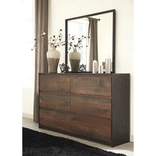Signature Design by Ashley Windlore Dark Brown Dresser with Mirror