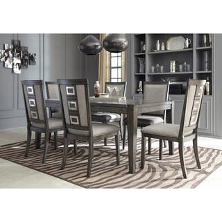 Signature Design by Ashley Chadoni Gray Dining Room Table with Chairs Set. Grey Dining Room Sets For Less   Overstock com