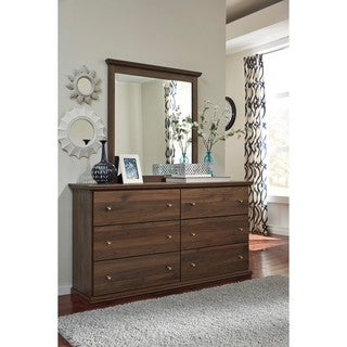 Signature Design by Ashley Burminson Brown Dresser with Mirror