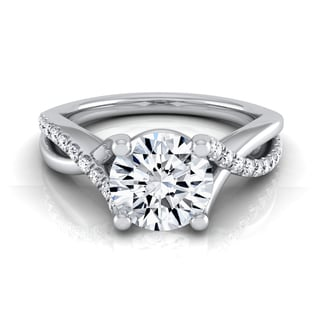 Link to 14k White Gold 1 1/6ct TDW Diamond IGI-certified Engagement Ring with Pave Infinity Shank Similar Items in Rings