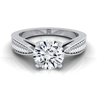 14k White Gold 1ct TDW Round Diamond Solitaire Engagement Ring (H-I, VS1-VS2)