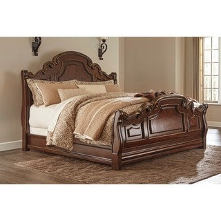 Signature Design by Ashley Brulind Dark Brown Queen Sleigh Bed