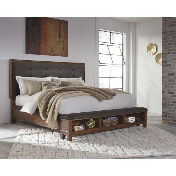 Shop Signature Design By Ashley Moluxy Dark Brown Queen Storage Bed