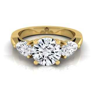 14k Yellow Gold 2ct TDW 3-stone Diamond Engagement Ring (H-I, VS1-VS2)