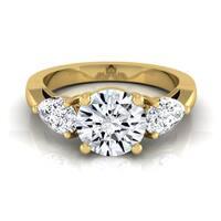 14k Yellow Gold 2ct TDW 3-stone Diamond Engagement Ring