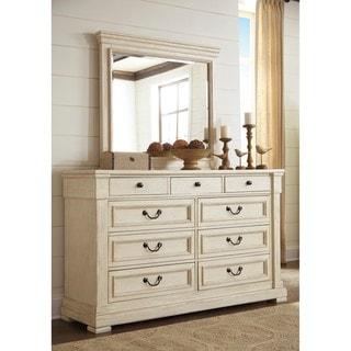 Signature Design by Ashley Bolanburg White Dresser with Mirror