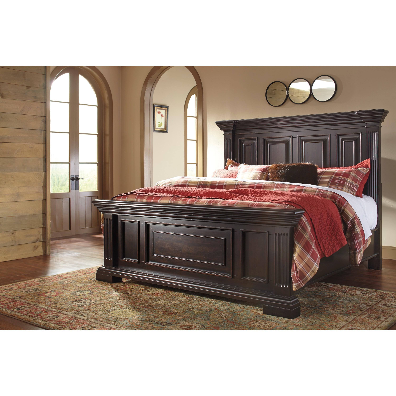 Ashley Willenburg Dark Brown King Bed (King Bed)