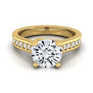 14k Yellow Gold 1 1/3ct TDW Round Diamond Solitaire Engagement Ring (H-I, VS1-VS2)