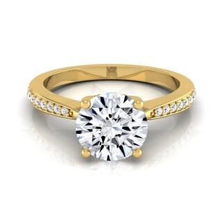 14k Yellow Gold IGI-certified 1 1/8ct TDW Round Diamond Solitaire Engagement Ring (H-I, VS1-VS2)
