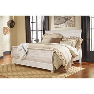 Signature Design by Ashley Willowton White King Sleigh Bed