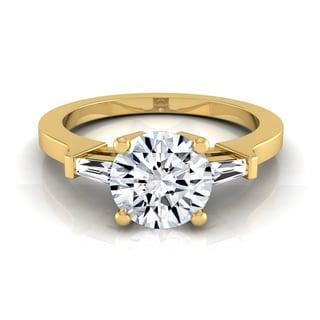 14k Yellow Gold 1 1/4ct TDW Round Diamond Solitaire Engagement Ring (H-I, VS1-VS2)