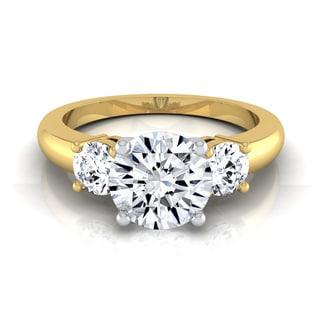 14k Yellow Gold 1 1/4ct TDW Round Diamond 3-Stone Engagement Ring (H-I, VS1-VS2)